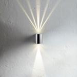 Licht-Trend Baleno LED-Wandleuchte Up&Down mit Lichtfilter Edelstahl Wandlampe Aussen