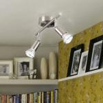 Luminato LED-Deckenbalken 26 cm / 2 x LED verstellbar Deckenstrahler Deckenspot