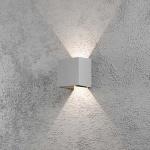 Konstsmide 7959-310 Cremona LED Aussen-Wandleuchte individuell verstellbarer Lichtaustritt Grau klares Acrylglas