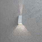Konstsmide 7911-310 Imola LED Aussen-Wandleuchte mit doppeltem Lichtkegel Grau klares Acrylglas