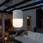 Konstsmide 7805-202 Assisi Solar LED Leuchte zum Hängen oder Hinstellen Weiß opales Acrylglas
