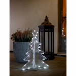 LED Acryl Tannenbaum 3D klein 40 Kaltweiße Dioden 24V Außentrafo