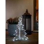 LED Acryl Tannenbaum 3D klein 40 kaltweisse Dioden 24V Außentrafo