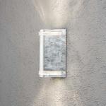 Konstsmide 7518-320 Modena Aussen-Wandleuchte mit doppeltem Lichtkegel / galvanisierter Stahl, klares Acrylglas