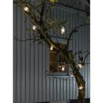 LED Biergartenkette 10er klar 80 warmweisse Dioden 24V