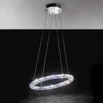 Toneria Kristall LED Hängeleuchte chrom 48 x 0, 5W Hängelampe