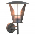 Konstsmide 7343-000 Livorno Energiespar Aussen-Wandleuchte Edelstahl opales Acrylglas