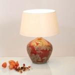 Holländer 057 K 1212 Tischleuchte Toulouse Keramik Glasiert Rot-Schlamm