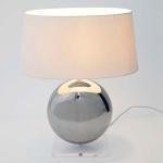 Holländer 039 K 1260 OV Tischleuchte Bowling Keramik-Plexiglas Metallic-Klar