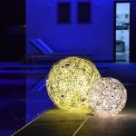 s.LUCE Mesh L LED-Drahtkugel Ø 50cm Innen & Aussen Stehlampe