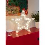 Konstsmide 2786-103 LED Kunststoffstern mit Sterneffekt 32 warmweisse Dioden 24V Innentrafo