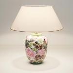 Holländer 014 K 1251 Tischleuchte Blumenwiese Keramik Grün-Violett-Weiss