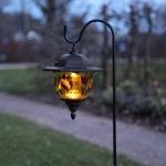 Premium LED Solarspieß mit buntem Dekor 90cm LED-Solarleuchte LED-Solarlampe