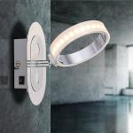 Globo 56043-1 Idaho Strahler Chrom Einlage Aluminium LED