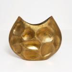 Holländer 207 3560 Dekovase Rustica Oval Mittel Aluminium Gold