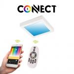 Connect LED-Deckenleuchte 22, 5x22, 5cm Weiß 2000lm RGB+CCT LED Deckenlampe