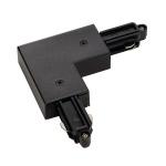 SLV Eckverbinder für 1-Phasen HV-Stromschiene Aufbauversion schwarz Erde Innen 143060