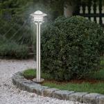 Mouna / Aussen-Standleuchte / Ø 20, 5 cm / Edelstahl, Klar / Pollerlampe / Sockellampe
