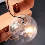 s.LUCE Sphere 40 Pendelleuchte Klar Glaskugel Pendellampe Glaslampe Glasleuchte