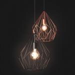 Licht-Trend Bosco / Retro Pendelleuchte im Vintage-Look / Pendellampe Schwarz