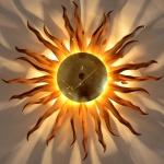 s.LUCE Diator XL handgeschmiedete Sonne Rost & gold Deckenlampe