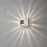 Konstsmide 7978-250 Pescara LED Aussen-Wandleuchte Weiß klares Acrylglas
