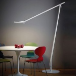 Rotaliana 1SRXL 002 43 EL0 String XL LED-Stehleuchte mit Dimmer / Stehlampe Silber