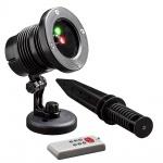 Konstsmide 4530-590 LED Laser, mit bewegten und funkelnden Punkten, mit Fernbedienung, Bewegungssensor und wählbarem 4h/6h und 8hTimer , inkl. Erdspieß, rote und grüne Dioden, 12V Außentrafo