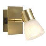 Globo 54540-1 Raider / Spot Messing matt / Glas alabaster Optik / Schalter
