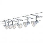 Paulmann Wire System Sheela LED Seilsystem 6x4W GU5, 3 Chrom, Opal Seil-Set