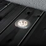 Konstsmide 7654-000 Mini LED Bodenspots Set 3-tlg. Edelstahl klares Glas