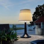 Konstsmide 7109-752 Assisi Solar LED Tischlampe Schwarz