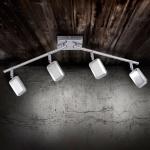 LeuchtenDirekt 11244-17 Wella LED Deckenleuchte schwenkbar 4 x 4, 20W 3000K Chrom