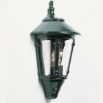 Konstsmide 569-600 Virgo Aussen-Wandleuchte Grün rauchfarbenes Acrylglas