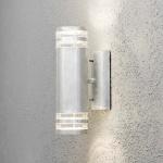 Konstsmide 7516-320 Modena Aussen-Wandleuchte mit doppeltem Lichtkegel galvanisierter Stahl klares Acrylglas Reflektor