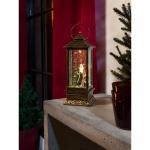 LED Schneelaterne mit Weihnachtsmann wassergefüllt 1 warmweisse Diode batteriebetrieben für Innen