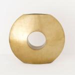 Holländer 132 3719 Dekovase Giulia Fiberglas Gold-Schwarz
