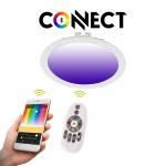 Connect LED-Einbaupanel Ø22, 5cm Weiß 2000lm RGB+CCT LED Einbauspot