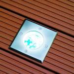LED-Einbauleuchte Gordo IP66 eckig 10x10cm Edelstahl