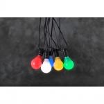 Konstsmide 4641-507 LED System Erweiterung für Biergartenkette bunt 10 Birnen Lichterkette