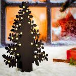 LED Weihnachtsbaum mit 54 LED-Kugeln / 50 cm / schwarz / Weihnachtsbeleuchtung