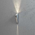 Konstsmide 7912-310 Imola LED Aussen-Wandleuchte mit doppeltem Lichtkegel Grau klares Acrylglas