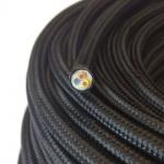 Textilkabel schwarz / 3 x 0, 75mm / 1 Meter / Zubehör
