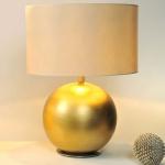 Holländer 039 K 1257 Tischleuchte Alpha Grande Keramik-Metall BlattverGoldet-Vernickelt