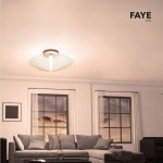 Grossmann 71-776-072 Faye XXL LED Wand- oder Deckenleuchte Ø 100cm Alu-matt