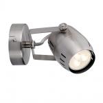 Paulmann Spotlight Gamma LED 1x3, 5W GU10 230V Nickel gebürstet Metall /