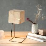 Almleuchten S1 faszinierende Tischleuchte aus Altholz Braun Tischlampe aus Holz