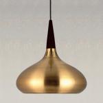 s.LUCE Hängeleuchte Chic 42 mit Holzoptik Goldfarben Design Hängelampe Pendellampe