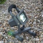Licht-Trend Senso / LED-Fluter / Akku-Baustrahler / 10 W / Anthrazit / Aussenstrahler