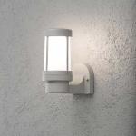 Konstsmide 7513-302 Siena Aussen-Wandleuchte Grau opales Glas